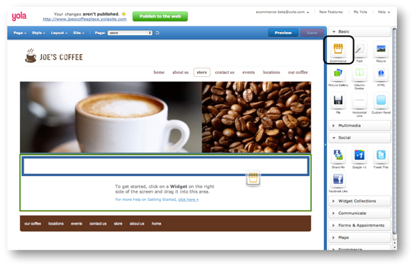 Yola Online Store