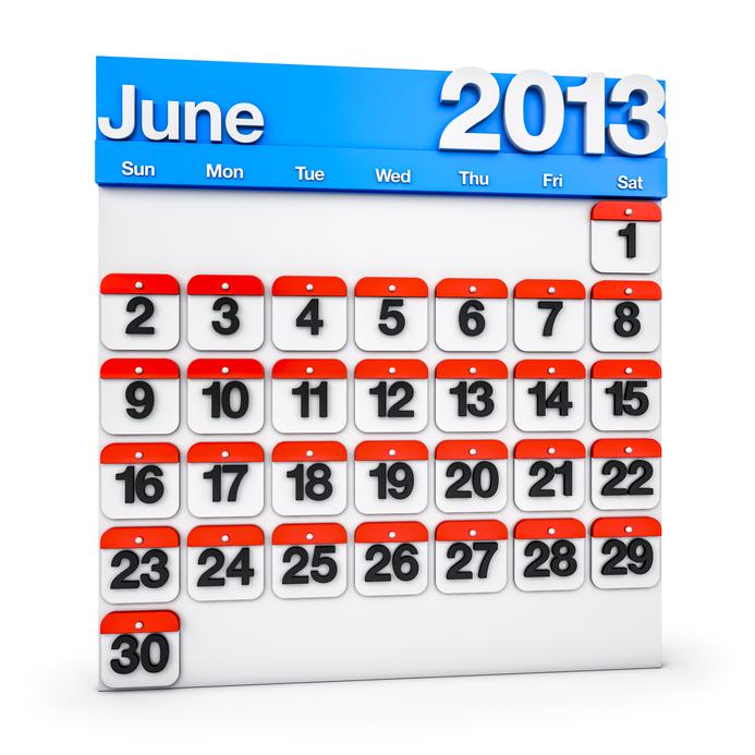 Content Calendar June 2013