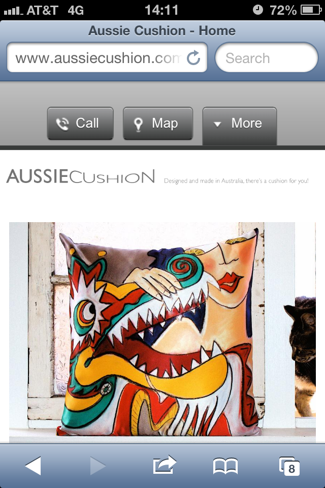 AussieCushion Mobile Site