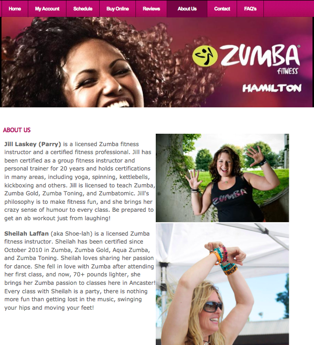 Zumba Fitness Hamilton - About Us