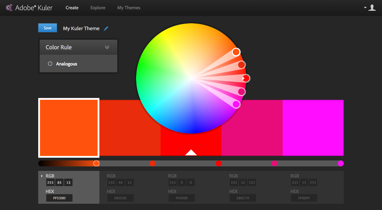 how to have a color scheme that matches your banner image