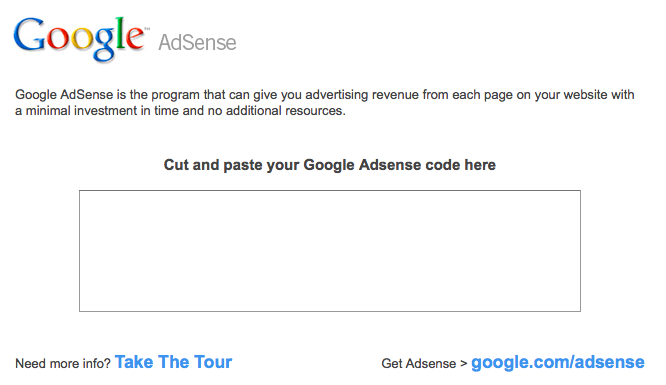 Adding Google AdSense to Yola