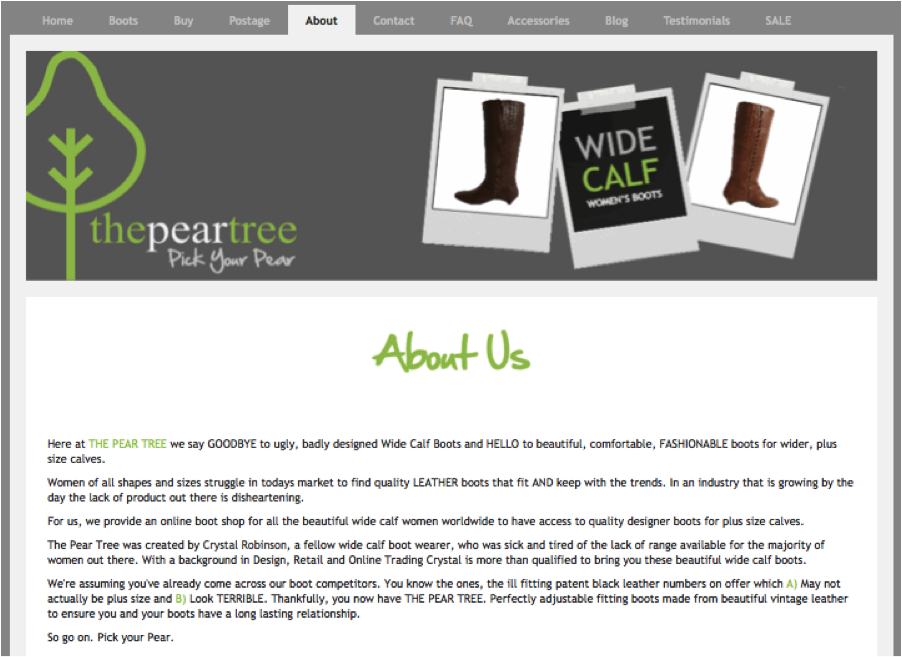 The Pear Tree - About Us