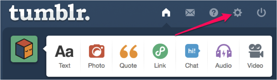 Tumblr Settings