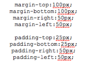 CSS Margin and Padding