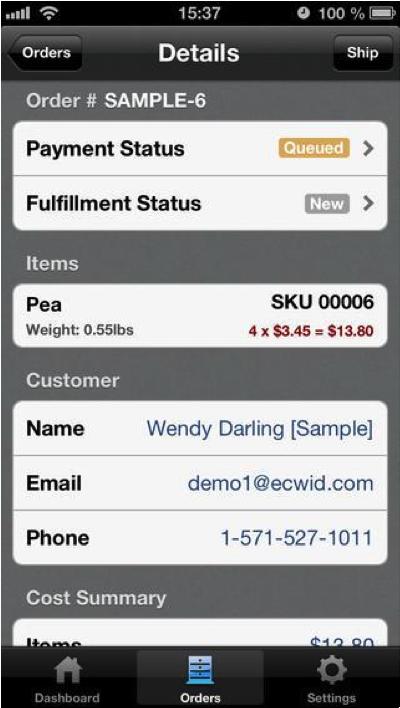 Ecwid app