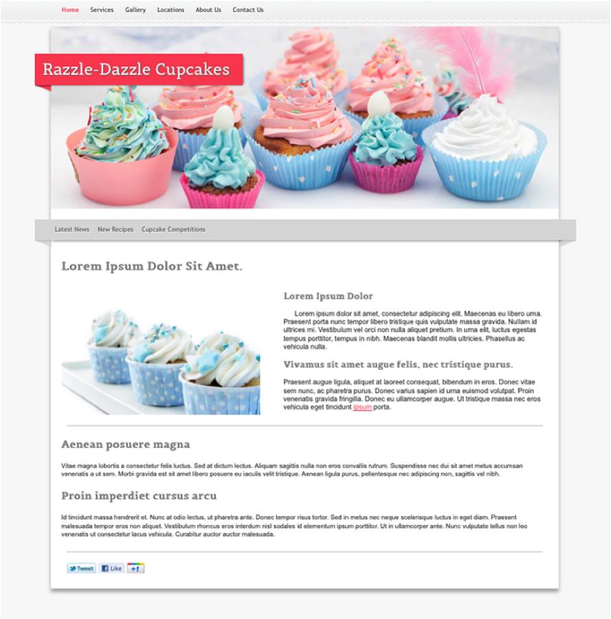 Pink Cupcake website