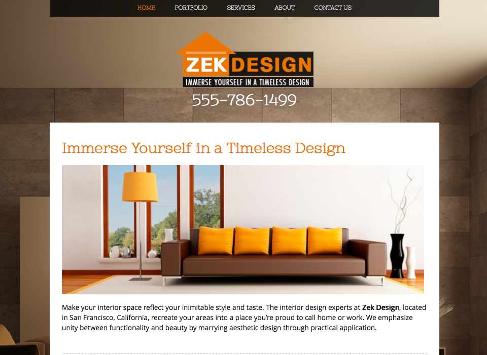 Zek Design Website