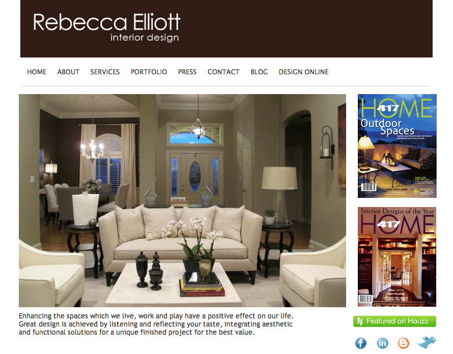 Rebecca Elliott visual content homepage