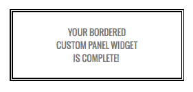 Double border custom panel widget