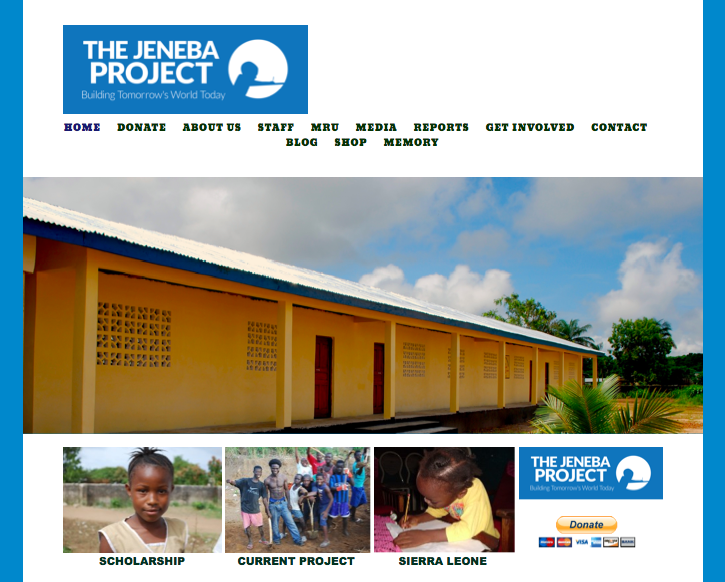 The Jeneba Project does a great job of guiding users through their navigation, using pictures as links.