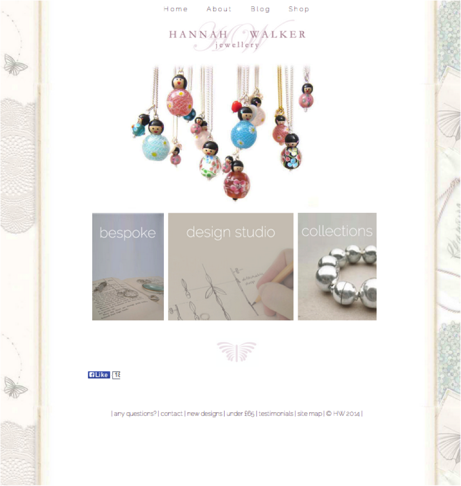 Yola Buildathon Contest Winner Hannah Walker Jewellery