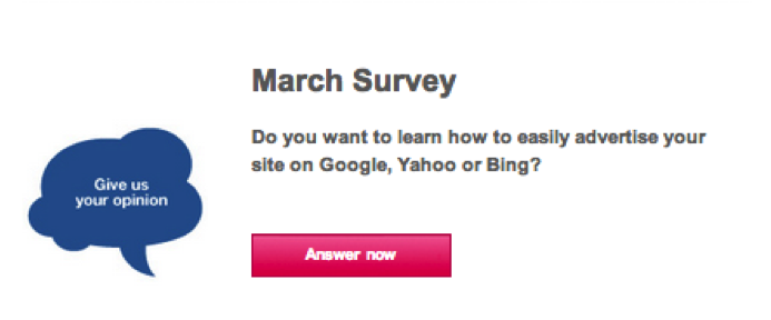 Adding a survey to your newsletter