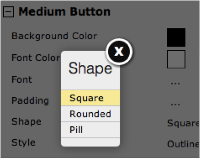 Editing your button in Style Designer