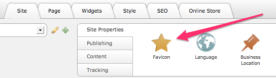 Adding a Favicon in Yola Sitebuilder