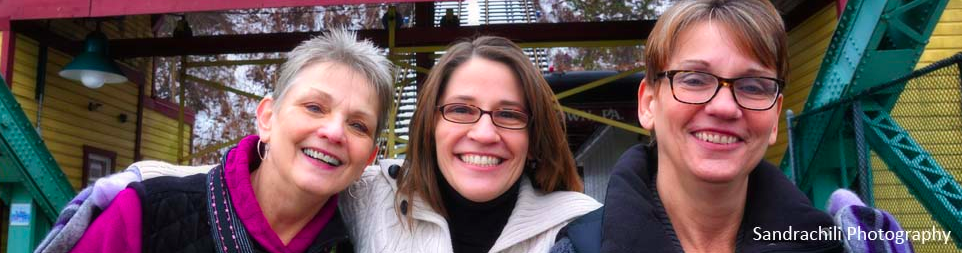 Mary and her sisters Vicki and Nancy of Miracle Mittens