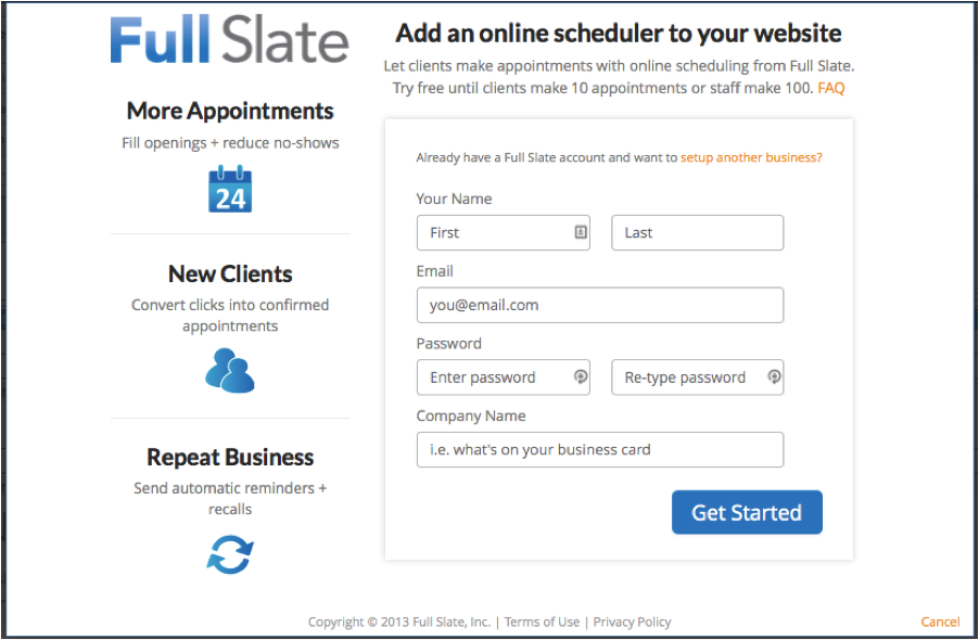 Scheduling appointments on your business website with Yola - 2