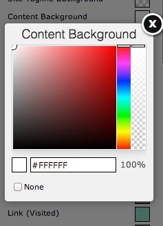 Selecting your content background