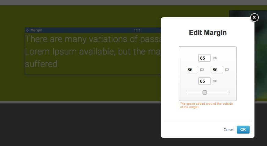 Add margin to your Text Widget