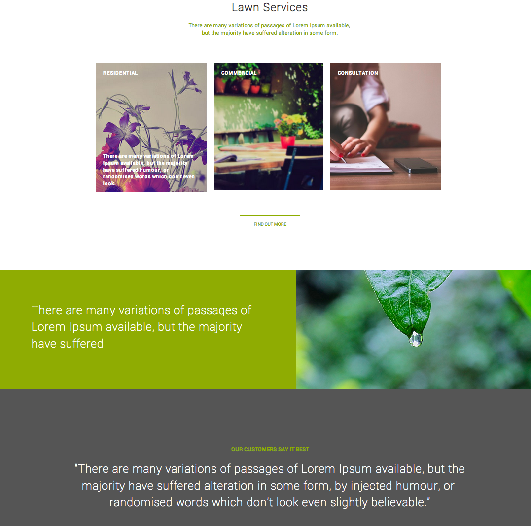 Example of a Flat site created on Yola