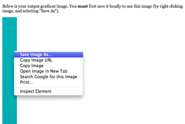 Saving your custom gradient