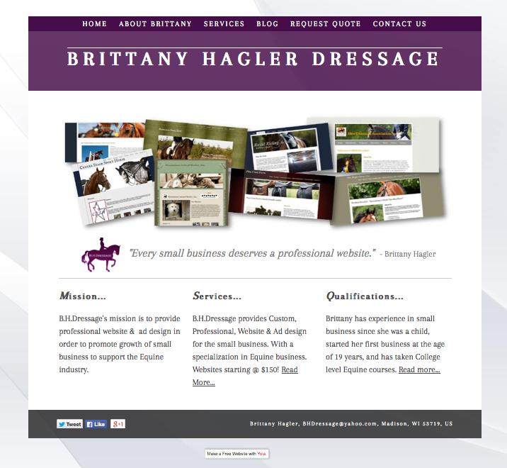 Brittany Hagler Dressage