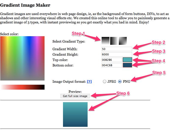 Create a custom gradient