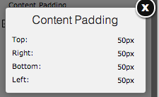 Adding Content Padding on Yola
