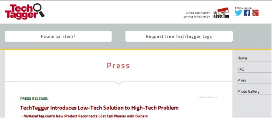 Tech Taggers resource center