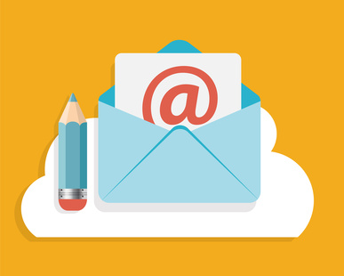 Flat Design Concept Email Write Icon Vector Illustration