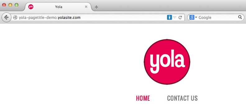 Fixing your page title with Yola