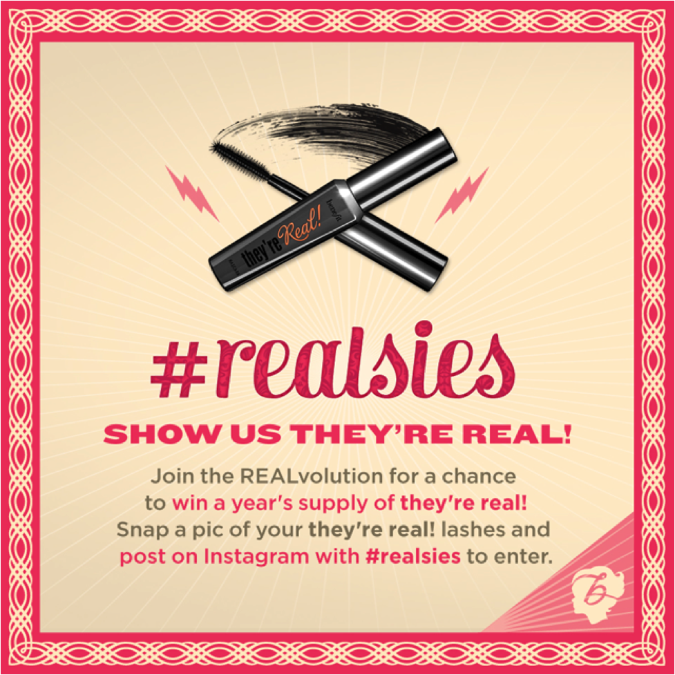 Benefit Realsies Campaign