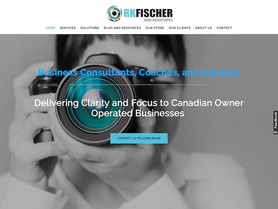 Screen shot of RKFischer and Associates