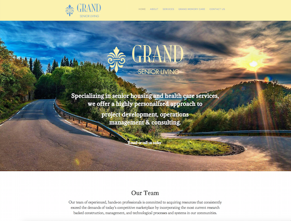 Grand Senior Living Homepage